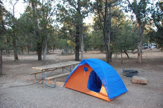 グランドキャニオンでキャンプ